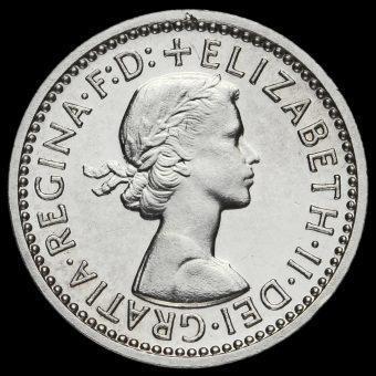 1962 Elizabeth II Silver Maundy Threepence Obverse