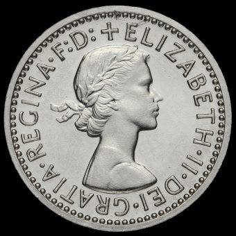 1962 Elizabeth II Silver Maundy Fourpence Obverse
