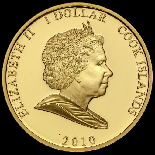 Cook Islands 2010 William & Catherine One Dollar Coin Obverse