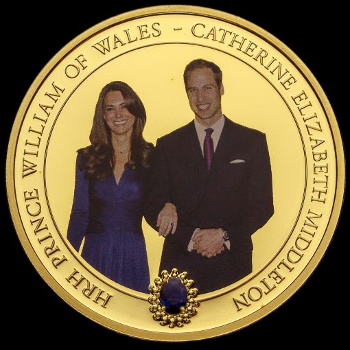 Cook Islands 2010 William & Catherine One Dollar Coin Reverse