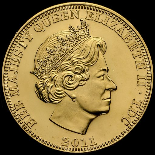 Tristan Da Cunha 2011 Limited Edition William & Catherine Crown Coin Obverse