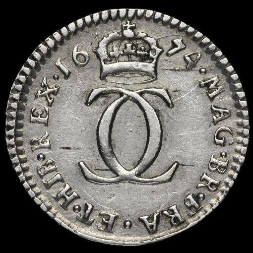 1674 Charles II Early Milled Silver Maundy Twopence Reverse