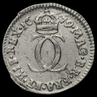 1679 Charles II Early Milled Silver Maundy Twopence Reverse