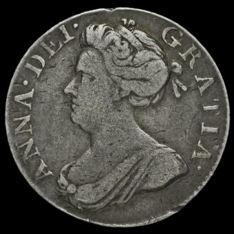 1706 Queen Anne Early Milled Silver Maundy Fourpence Obverse