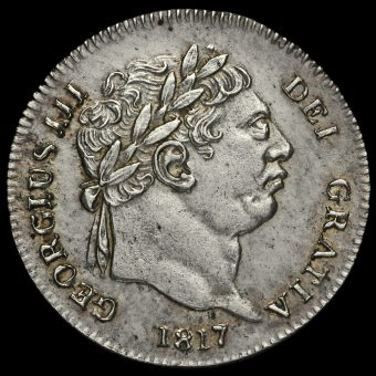1817 George III Milled Silver Maundy Twopence Obverse