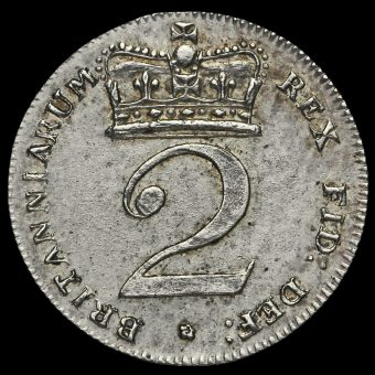 1817 George III Milled Silver Maundy Twopence Reverse