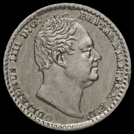 1831 William IV Milled Silver Maundy Penny Obverse