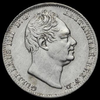 1831 William IV Milled Silver Maundy Fourpence Obverse