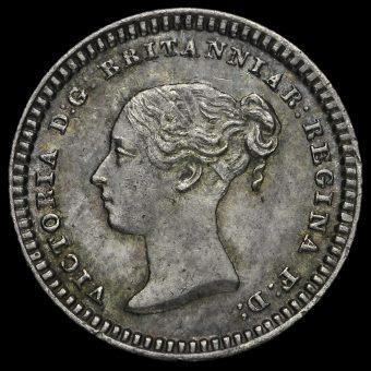 1839 Queen Victoria Young Head Silver Three-Halfpence Obverse