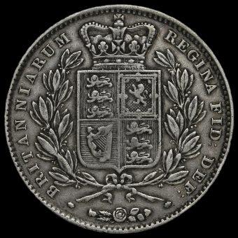 1845 Queen Victoria Young Head Silver Crown Reverse