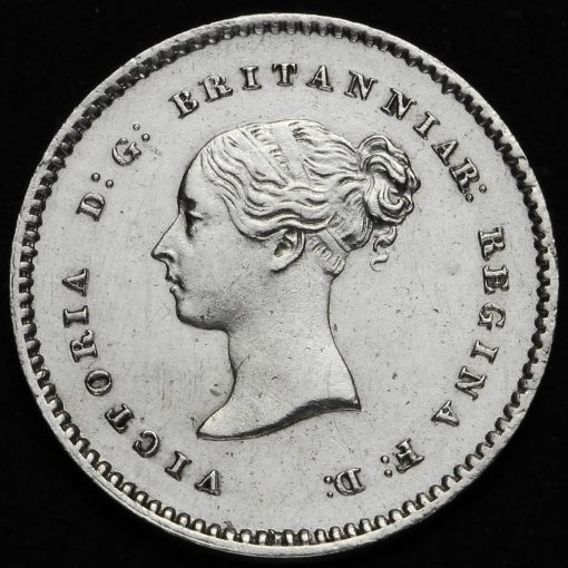 1864 Queen Victoria Young Head Silver Maundy Twopence Obverse