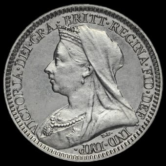 1894 Queen Victoria Veiled Head Silver Maundy Twopence Obverse