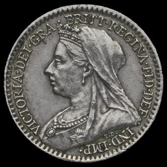 1895 Queen Victoria Veiled Head Silver Maundy Penny Obverse