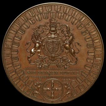 1897 Queen Victoria Diamond Jubilee Large Copper Medal by F Bowcher Reverse