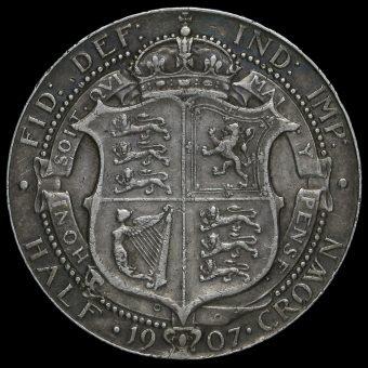 1907 Edward VII Silver Half Crown Reverse