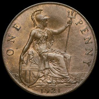1921 George V Penny Reverse
