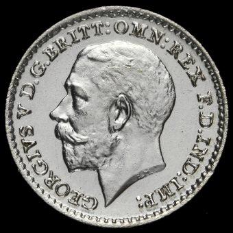 1922 George V Silver Maundy Penny Obverse