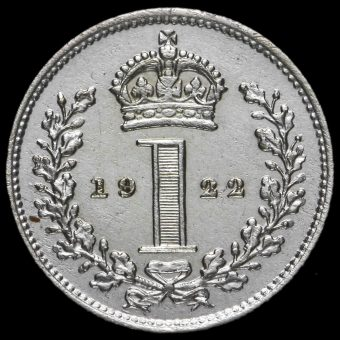 1922 George V Silver Maundy Penny Reverse