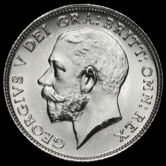 1924 George V Silver Sixpence Obverse