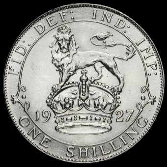 1927 George V Silver Shilling Reverse