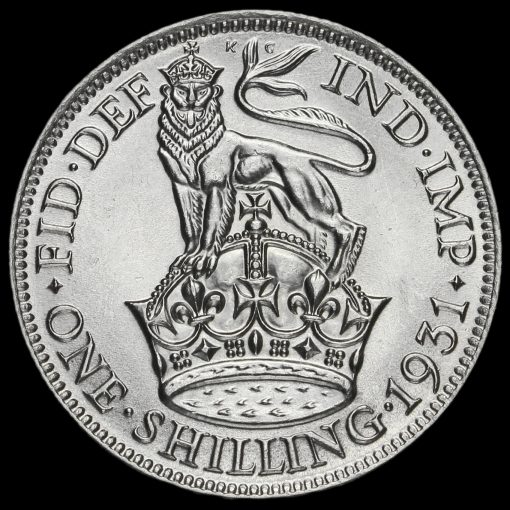 1931 George V Silver Shilling Reverse