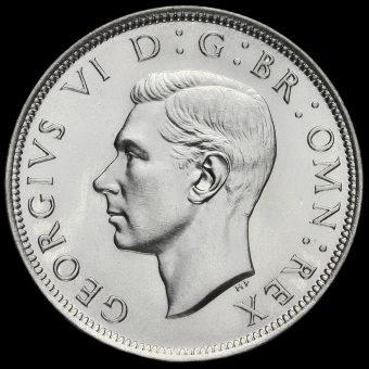 1944 George VI Silver Half Crown Obverse