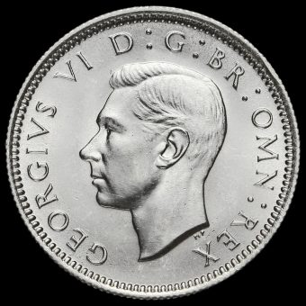 1946 George VI Silver Sixpence Obverse