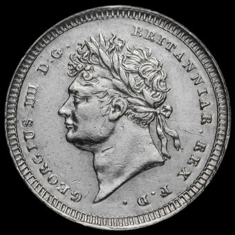 1828 George IV Milled Silver Maundy Twopence Obverse