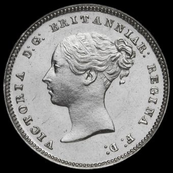 1879 Queen Victoria Young Head Silver Maundy Fourpence Obverse