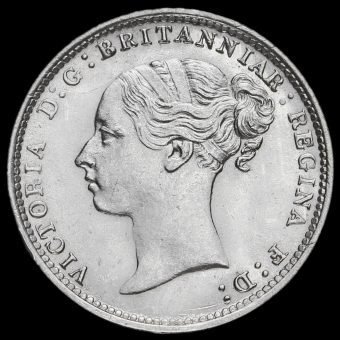 1884 Queen Victoria Young Head Silver Threepence Obverse