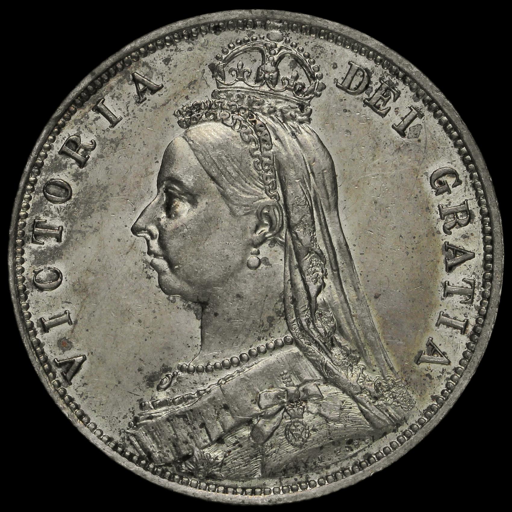 1887 Queen Victoria Jubilee Head Silver Half Crown