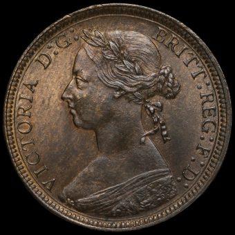 1890 Queen Victoria Bun Head Halfpenny Obverse