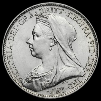 1894 Queen Victoria Veiled Head Silver Maundy Fourpence Obverse