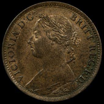 1895 Queen Victoria Bun Head Farthing Obverse