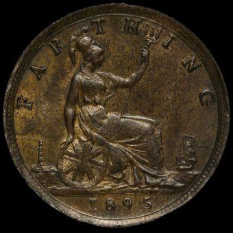 1895 Queen Victoria Bun Head Farthing Reverse