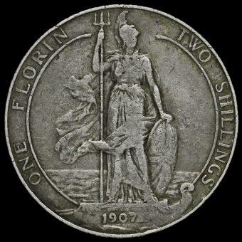 1907 Edward VII Silver Florin Reverse