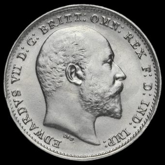 1908 Edward VII Silver Threepence Obverse