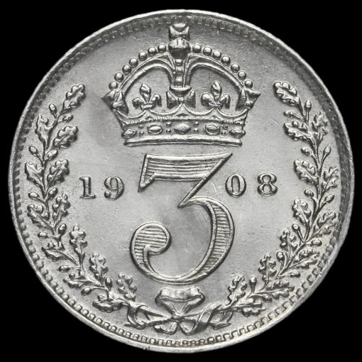 1908 Edward VII Silver Threepence Reverse