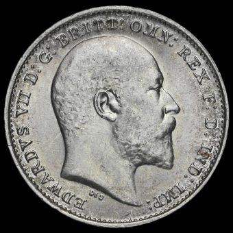 1910 Edward VII Silver Threepence Obverse