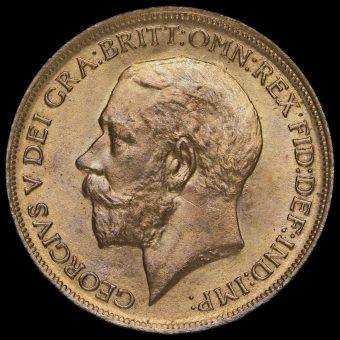 1911 George V Penny Obverse