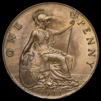 1911 George V Penny Reverse