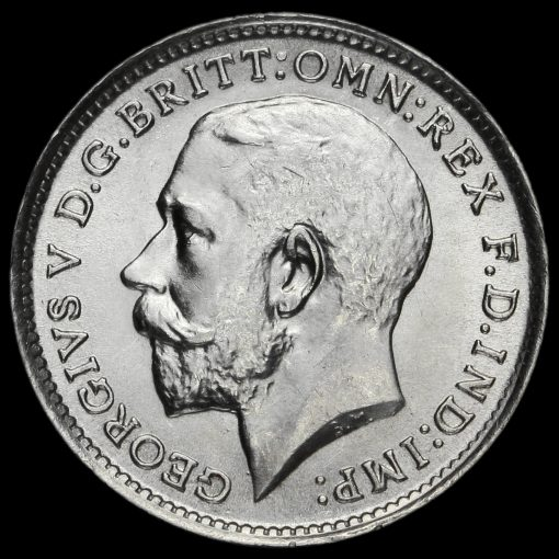 1912 George V Silver Threepence Obverse