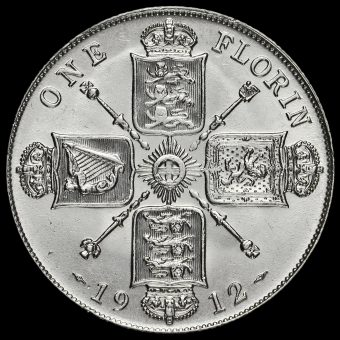 1912 George V Silver Florin Reverse