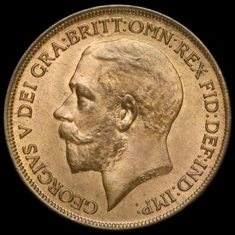 1921 George V Penny Obverse
