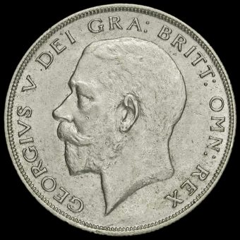 1922 George V Silver Half Crown Obverse