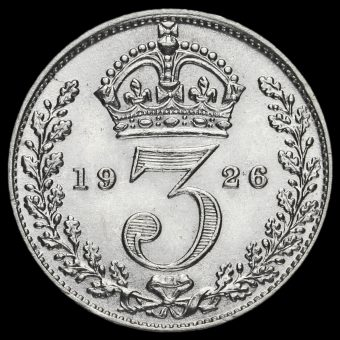 1926 George V Silver Threepence Reverse