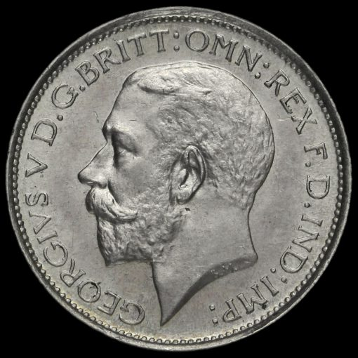 1927 George V Silver Maundy Fourpence Obverse