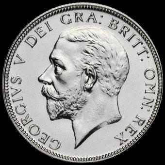 1927 George V Silver Proof Florin Obverse