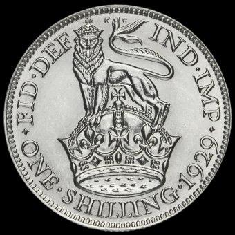 1929 George V Silver Shilling Reverse