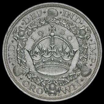 1936 George V Silver Wreath Crown Reverse